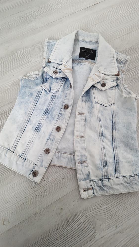 kamizelka jeans koronka 34