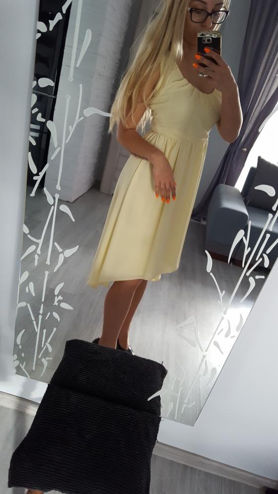 sukienka 36 żółta asymetryczna
