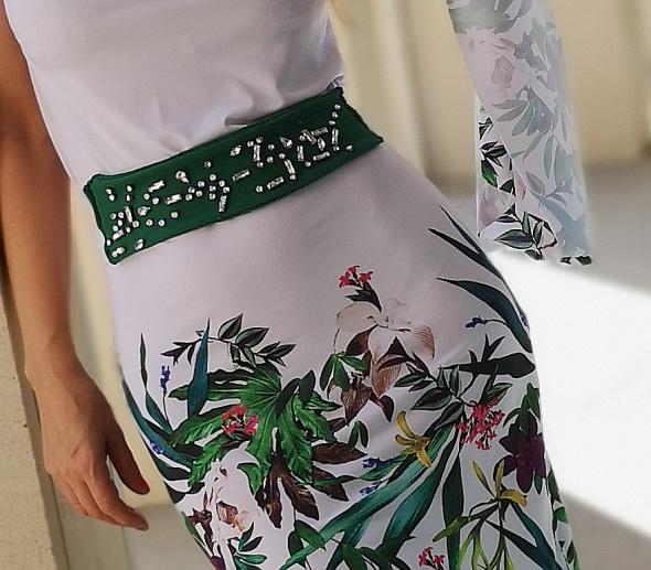 Sukienka asymetryczna pasek z cyrkoniami...