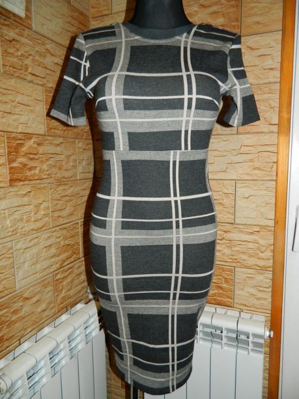 VILA dopasowana sukienka krata roz 36