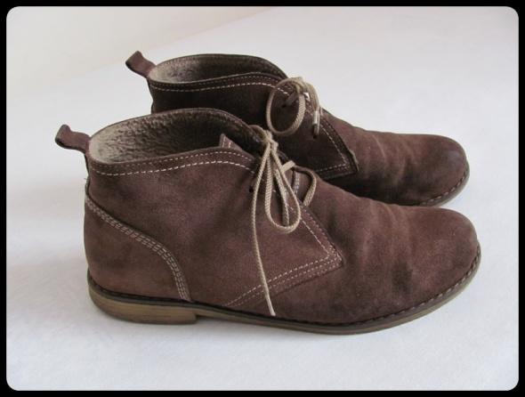 Buty botki półbuty damskie skórzane 41 wkładka 265 cm