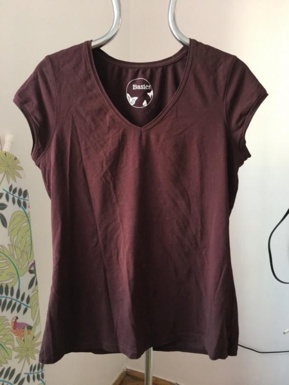 Brazowa koszulka BASICS rozm 44 bawelna i elastan