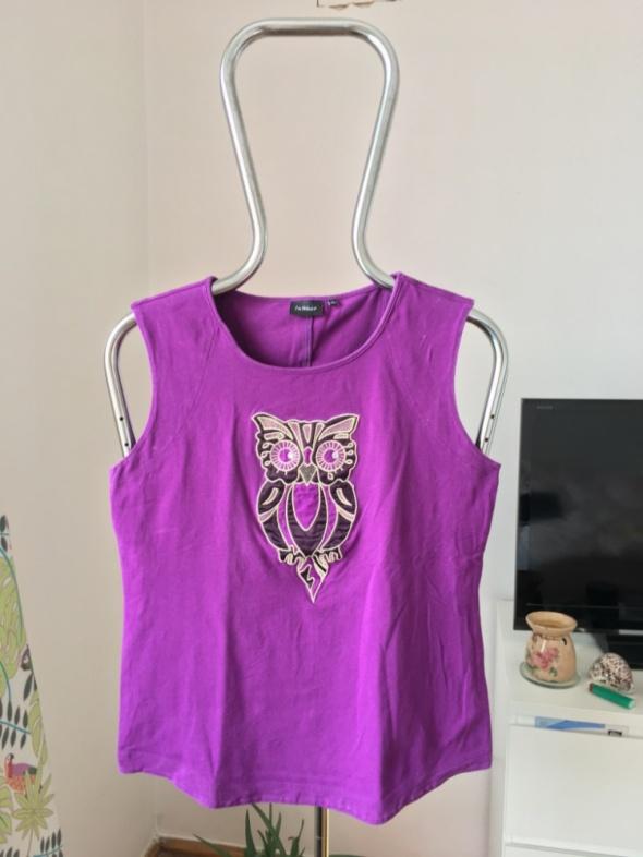Fioletowa bluzka z sową XL