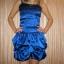 Granatowa sukienka z cekinami typu bombka