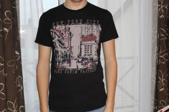 Tshirt czarny XXL New York City modny ładny