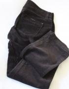 cienkie sztruksowe spodnie s...