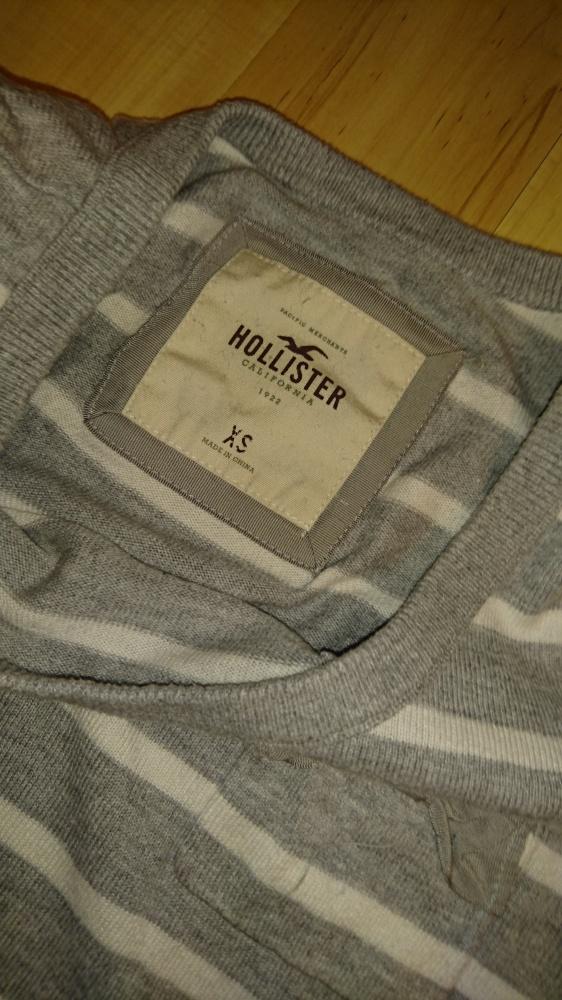 Sweterek szary Hollister XS 34