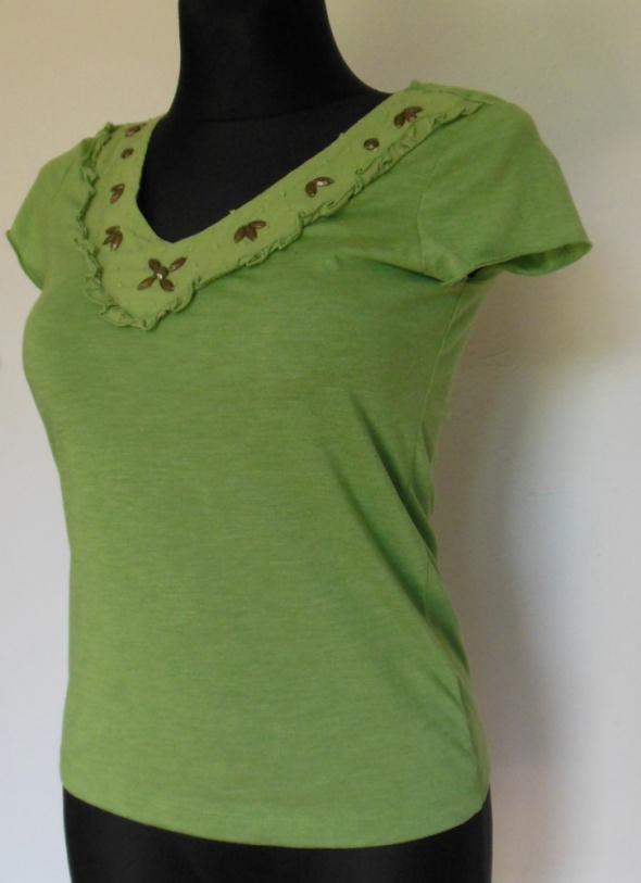 PER UNA zielona bluzka 38 letnia bluzeczka damska...