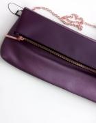 kopertówka śliwkowa podłużna a4 fioletowa bordowa