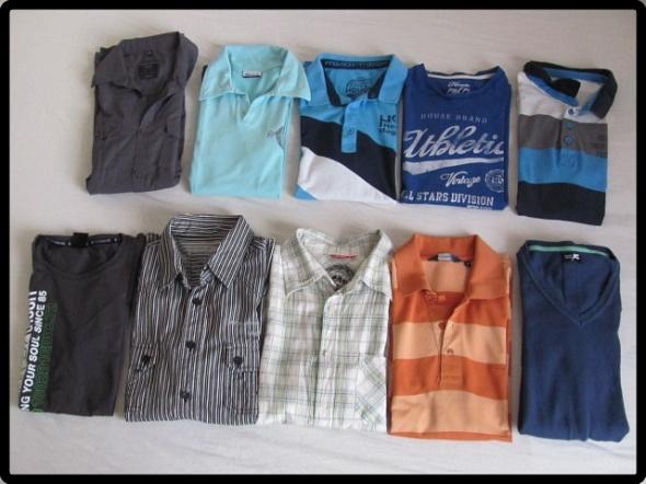 Zestaw męskich ubrań S i M stan bdb HOUSE 10 sztuk