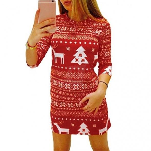 Świąteczna sukienka czerwona
