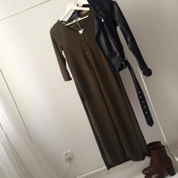Top Khaki long top Pull and Bear S