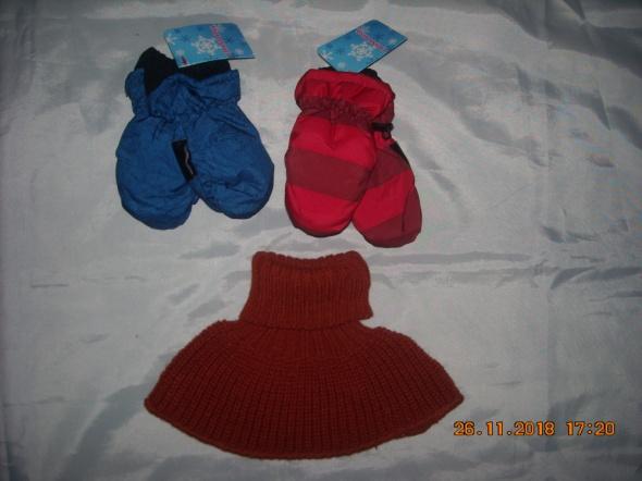 Dodatki Rękawiczki ORTALION rękawice dla dzieci GRATIS komin szalik golf