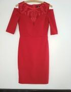 Sukienka czerwona dopasowana Illuminate 36...