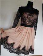 Sukienka czerń beż...