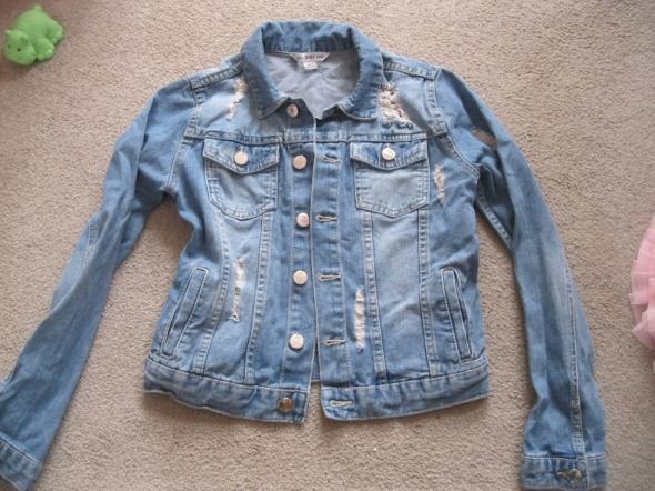 kurtka katana jeans DENIM CO 158 skinny niebieska