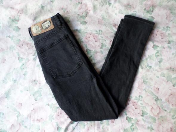 czarne jeansy cheap monday 26 30 XS...
