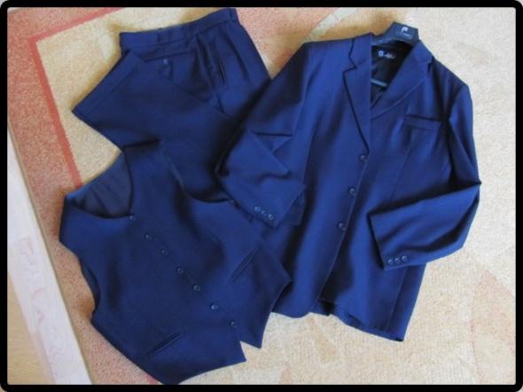 Garnitur marynarka spodnie kamizelka L i XL 52 182
