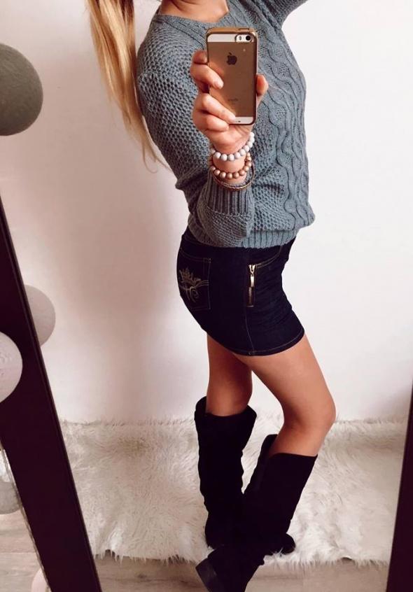 Spódniczka Damska jeansowa mini S