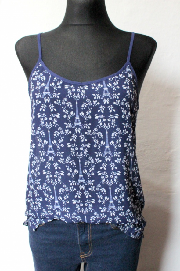 Lejąca koszulka bluzka na ramiączkach r S