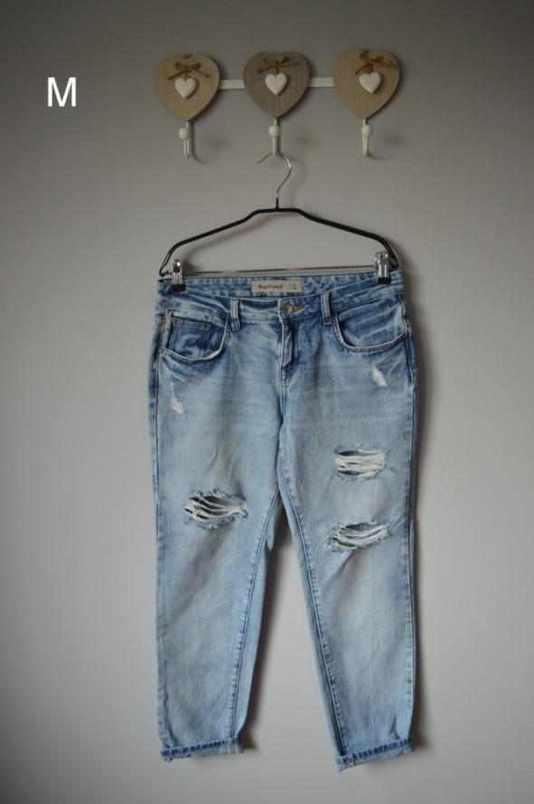 spodnie boyfriend 38 jeans dziury