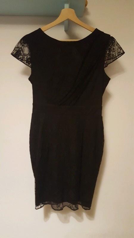 Czarna koronkowa sukienka wesele studniówka...