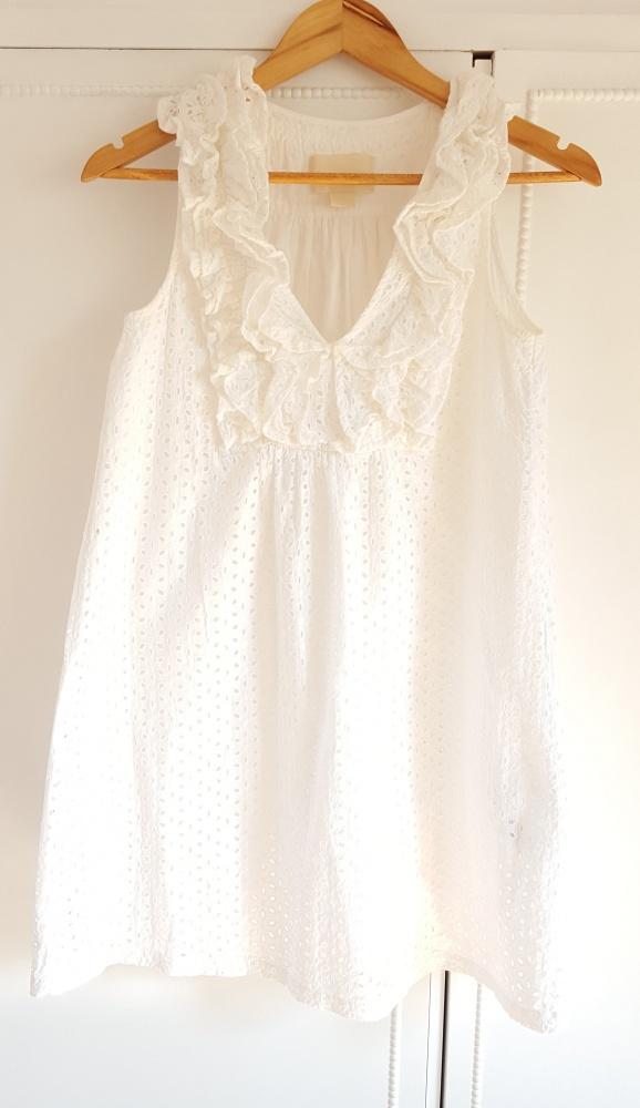 Sukienka mini H&M 36 S tunika bawełniana boho haft Conscious Collectio