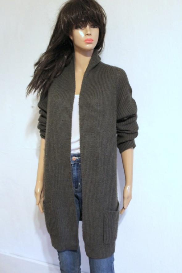 Szary sweter niezapinany kardigan r L