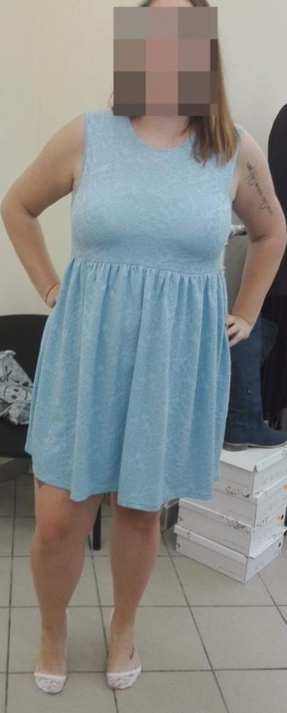 błękitna sukienka ASOS XXL...