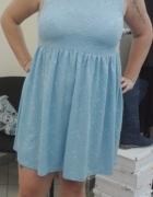 błękitna sukienka ASOS XXL