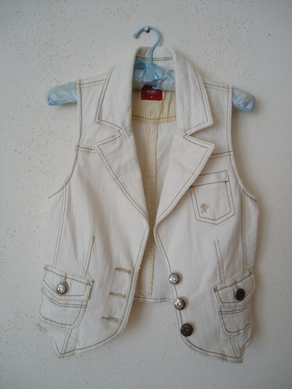 biała jeansowa kamizelka Esprit M 38...