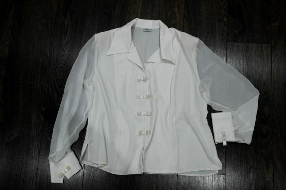 Wizytowa bluzka koszulowa biała 46