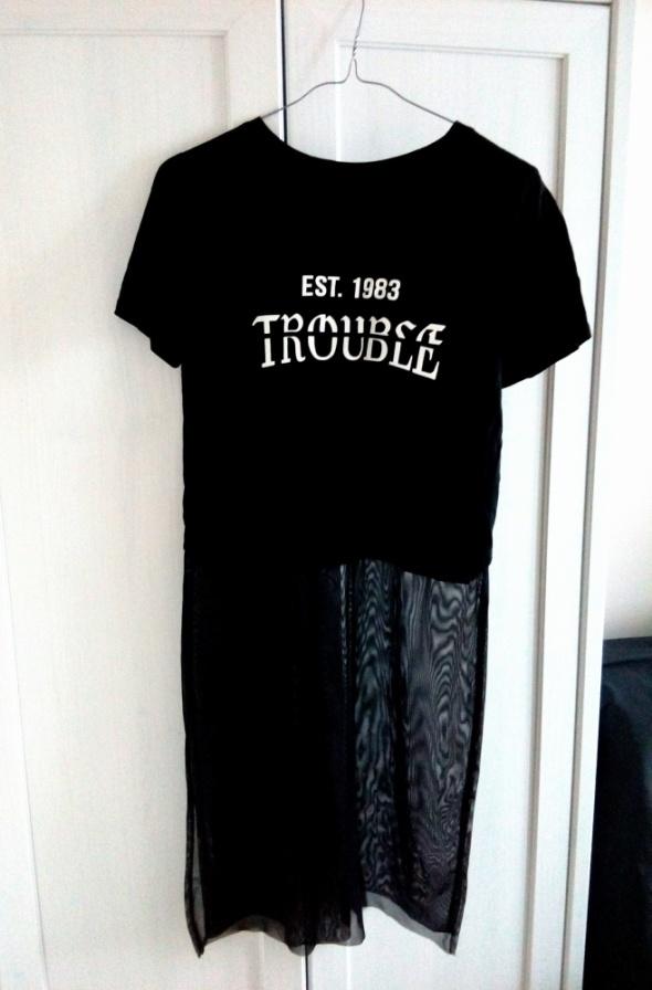 Bluzka Tunika Tiulowy dół NOWA...