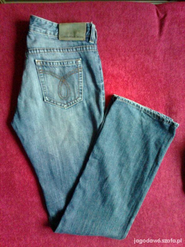 Calvin Klein Jeans W30 L34 SUPER niebieskie Jeansy...