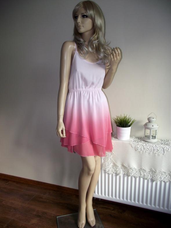 273e29061f Suknie i sukienki Letnia zwiewna sukienka ombre na ramiączkach Amisu 38 M