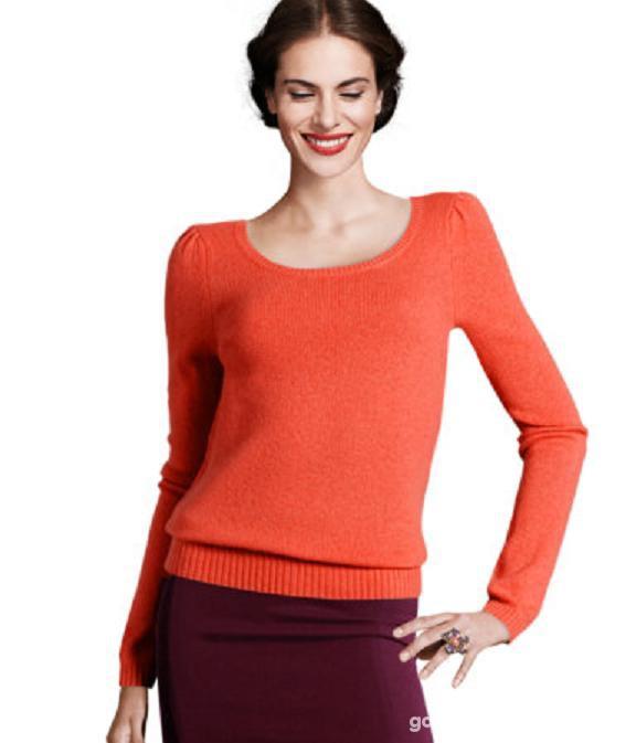 Sweterek z Angory H&M czerwony i zielony