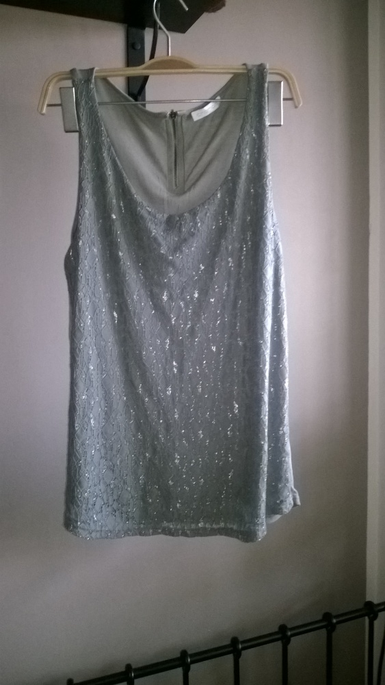 Bluzki Bluzka khaki promod koronka zamek L elegancka