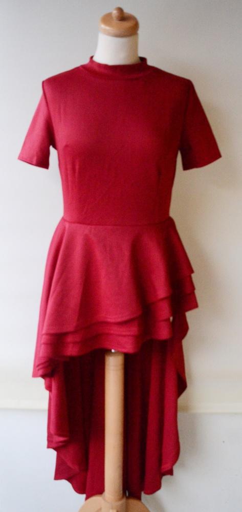 ca23d23746 Sukienka Falbanki Czerwona Nowa S 36 North Exclusive W Suknie I