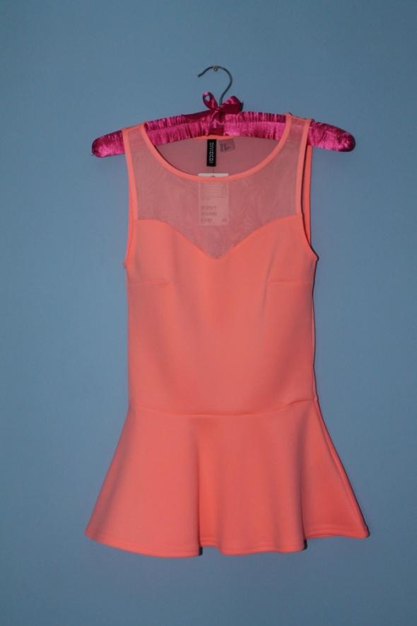 Top H&M nowa neonowa baskinka bluzka top XS S summer lato
