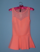 H&M nowa neonowa baskinka bluzka top XS S summer lato...