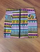 Spódnica mini w azteckie wzory rozmiar S