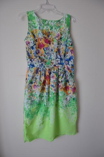 649afe4411 Cocomore sukienka zielona kwiatki 38 M 40 L lato w Suknie i sukienki ...