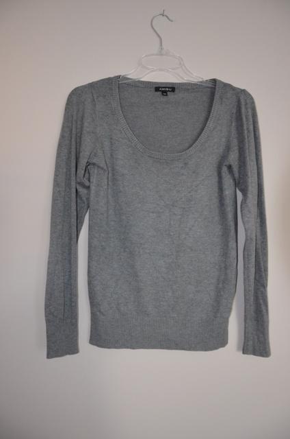 Amisu New Yorker szary siwy sweter damski 38 M hit...