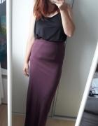 Burgundowa maxi długa spódnica...