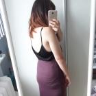 Burgundowa maxi długa spódnica