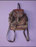 Mały vintage skórzany plecak