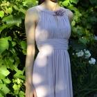piekna liliowa fioletowa tiulowa sukienka koktailowa wesele 34 36 XS S