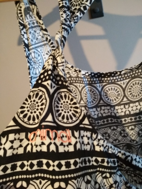 Bluzeczka na ramiączkach animal 14 czarno biała wzór aztec mand...