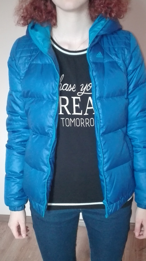 Niebieska kurtka Adidas XS...