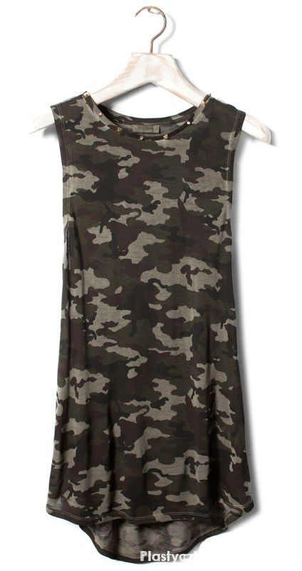 T-shirt Koszulka moro Pull & Bear XS S M